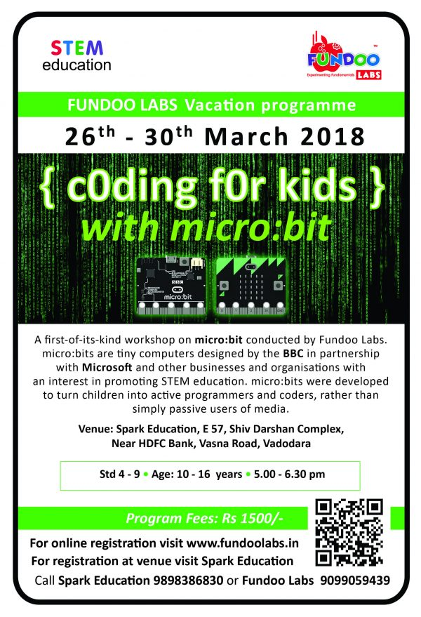 Coding For Kids @Spark Education, Vasna