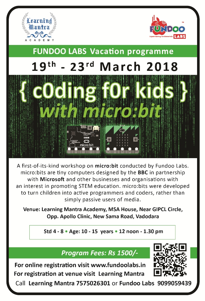 Coding For Kids @Learning Mantra, Sama