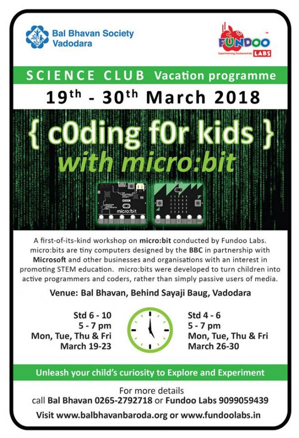 Coding For Kids @Bal Bhavan, Karelibaug