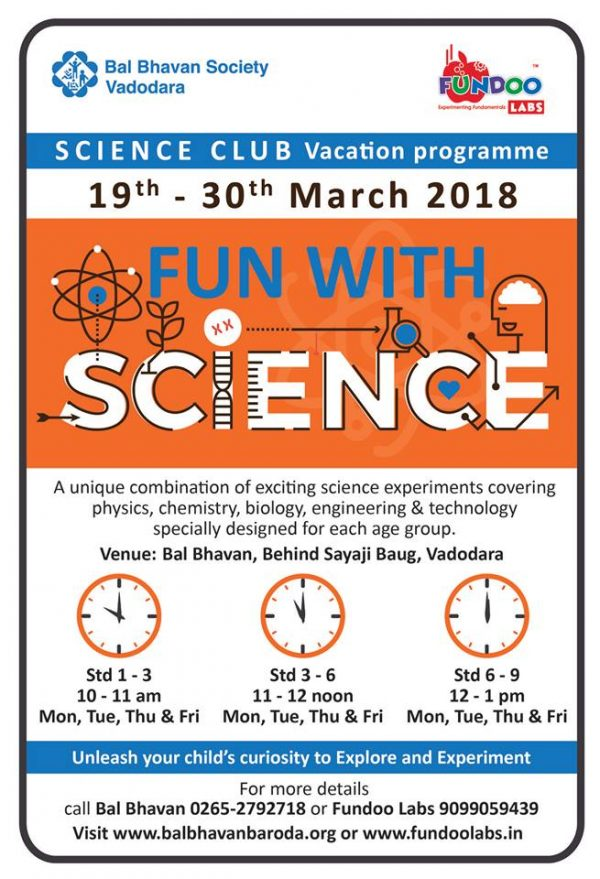 Fun With Science @Bal Bhavan, Karelibaug