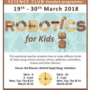 Robotics For Kids (@Balbhavan, Karelibaug)