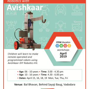 Robotics With Avishkaar (@Bal Bhavan, Karelibaug)  April 2019