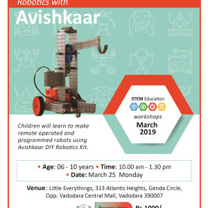 Robotics With Avishkaar(@Little Everything, Genda Circle)  March 2019