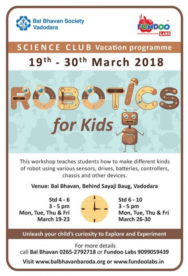Robotics For Kids @Bal Bhavan, Karelibaug