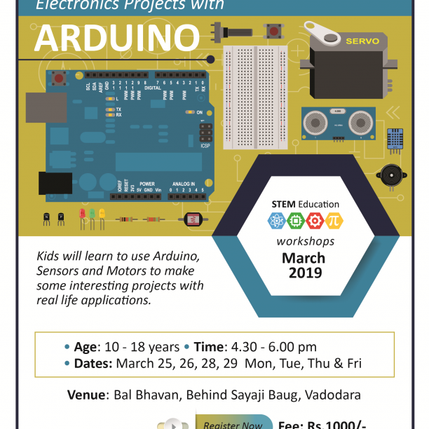 Electronics Projects With Arduino (@Bal Bhavan, Karelibaug)  March 2019