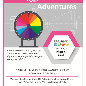 Science Adventures(@Little Everything, Genda Circle)  March 2019