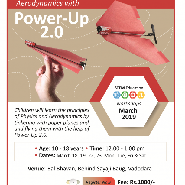 Aerodynamics With Power-Up 2.0  (@Bal Bhavan, Karelibaug)  March 2019