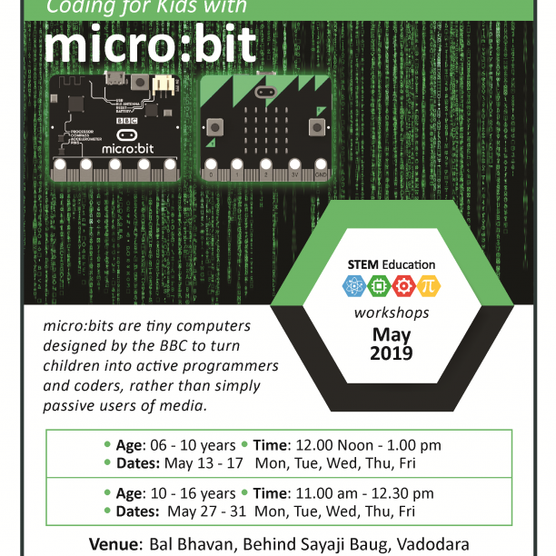 Coding For Kids With Micro:bit (@Bal Bhavan, Karelibaug)  May 2019
