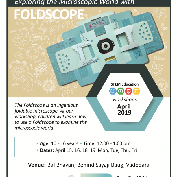 Exploring The Microscopic World With FOLDSCOPE (@Bal Bhavan, Karelibaug)  April 2019