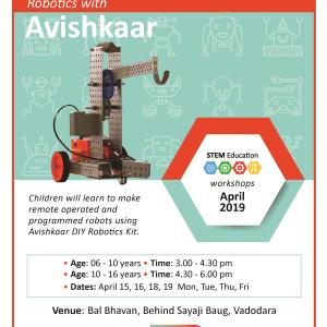 Robotics With Avishkaar (@Bal Bhavan, Karelibaug)  April 2019