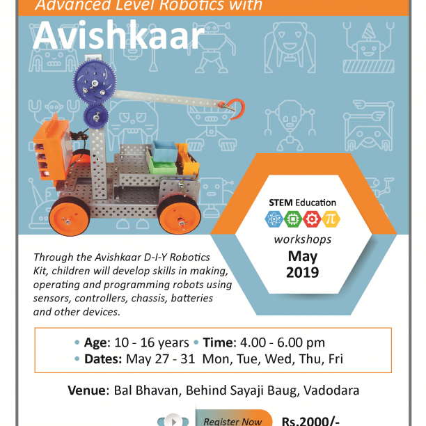 Advanced Robotics With Avishkaar (@Bal Bhavan, Karelibaug)  May 2019