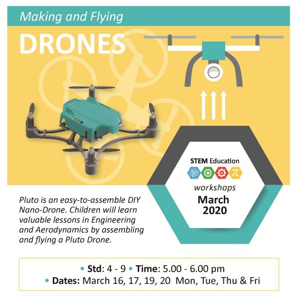 Learning And Flying A PLUTO DRONE  (@Bal Bhavan, Karelibaug)  March 2020
